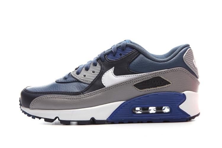reputable site 90c64 e930c Hommes Nike Air Max 95 Cuir Bleu Marine 609048 407 Chaussures Officiel NIke  prix Noires ... Nike Air Max 90 Cuir PA Stingray Hommes Chaussures De Sport  ...
