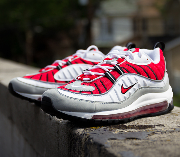 new arrival acb9d bd1be nike air max 98 university red