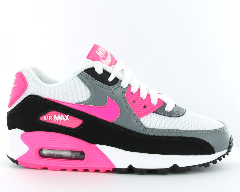 check out 1e6d9 150c0 Femme  iWq7l4 BS Chaussures  Nike Air Max Blanche Medium Grise Rose nike  roshe run magasin solde. Pas Cher Chaussure Femme Nike Air Max 95 Tripler  Loup Gris ...