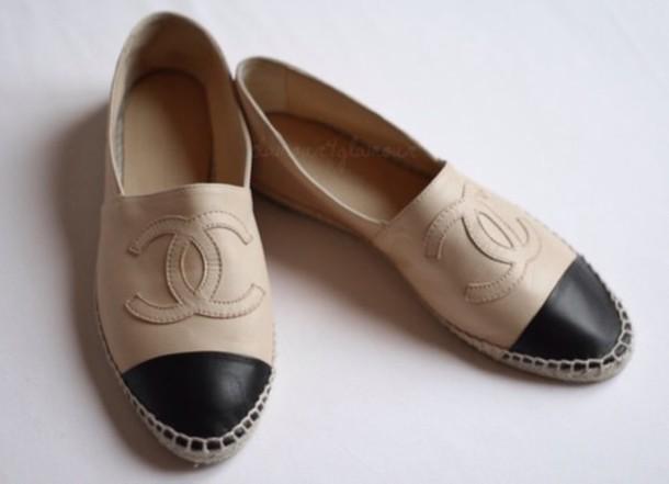 chaussure chanel femme espadrille,veronique chanel sage femme,sautoir chanel  pas cher. Espadrilles Chanel Espadrille en cuir. Mules G33587 X52550 C0204 245a5ba85519