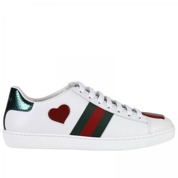dbfbf988310 Gucci Baskets en cuir à ornements Ace blanc femme Boutique