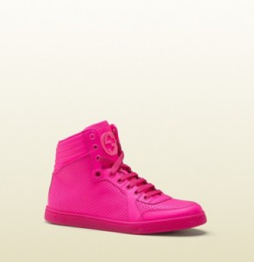 bcf22c6f494 chaussure gucci rose fluo 1