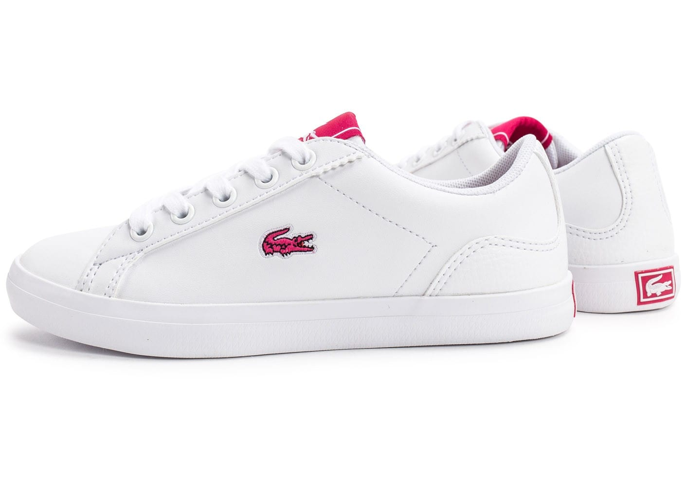 Blanche Iqyaxhhsw Et Rose Lacoste Chaussure Ow1HqUS