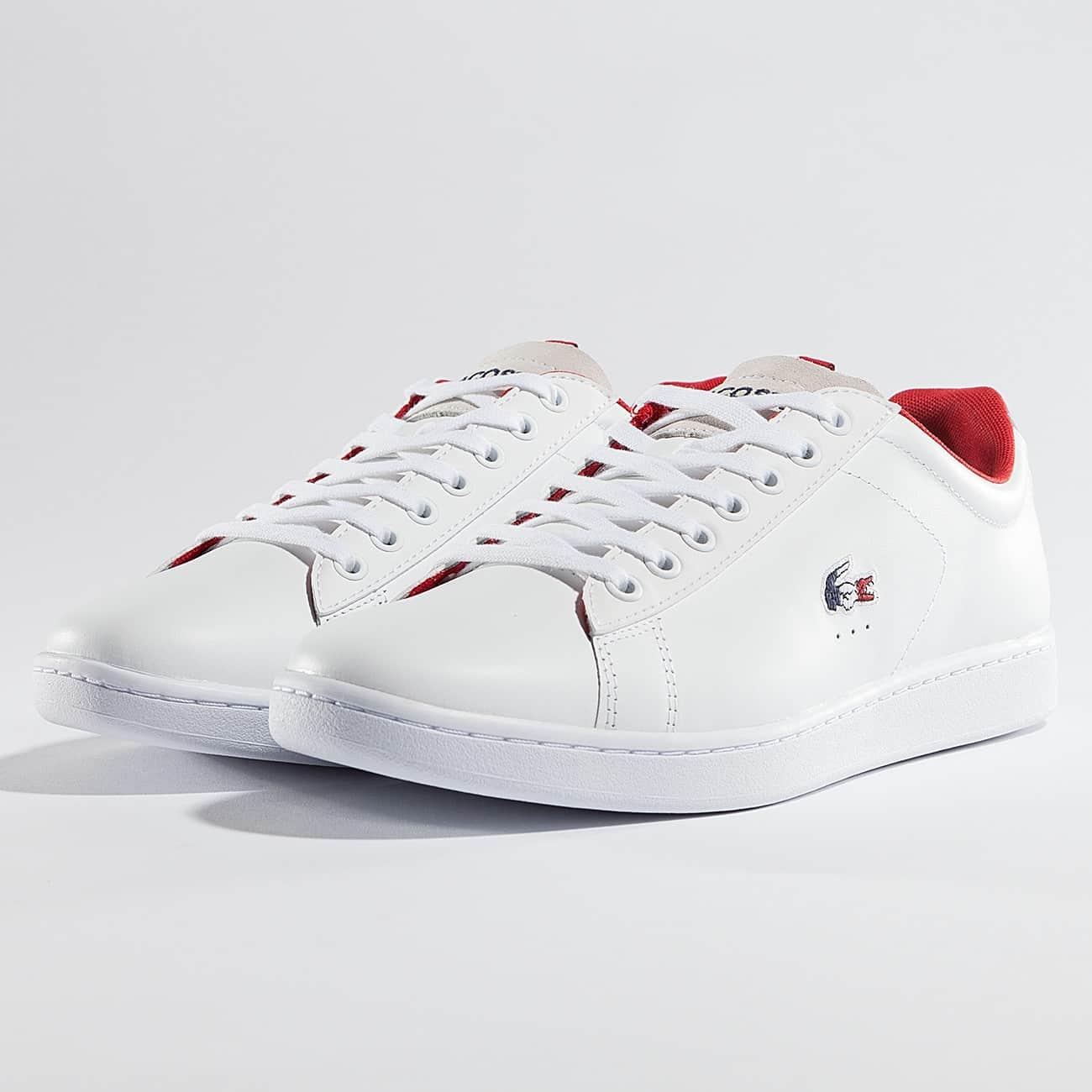 ae8525b86a22 Sneakers Carnaby Evo homme en cuir et suède ... Chaussures Lacoste Giron PRI  SPM Homme Blanc/Rouge Lacoste Chaussures / Baskets Marice BL 2 en blanc  femme ...