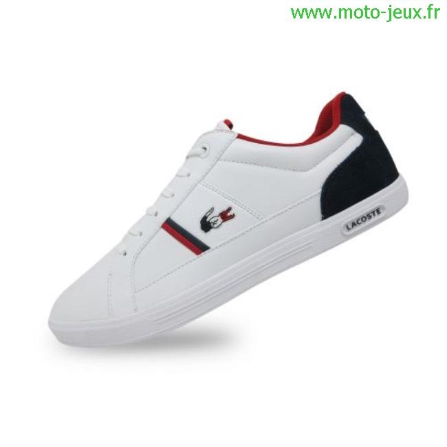 Lacoste Bleu Rouge Blanc O1bq6 Chaussure iZukOPX