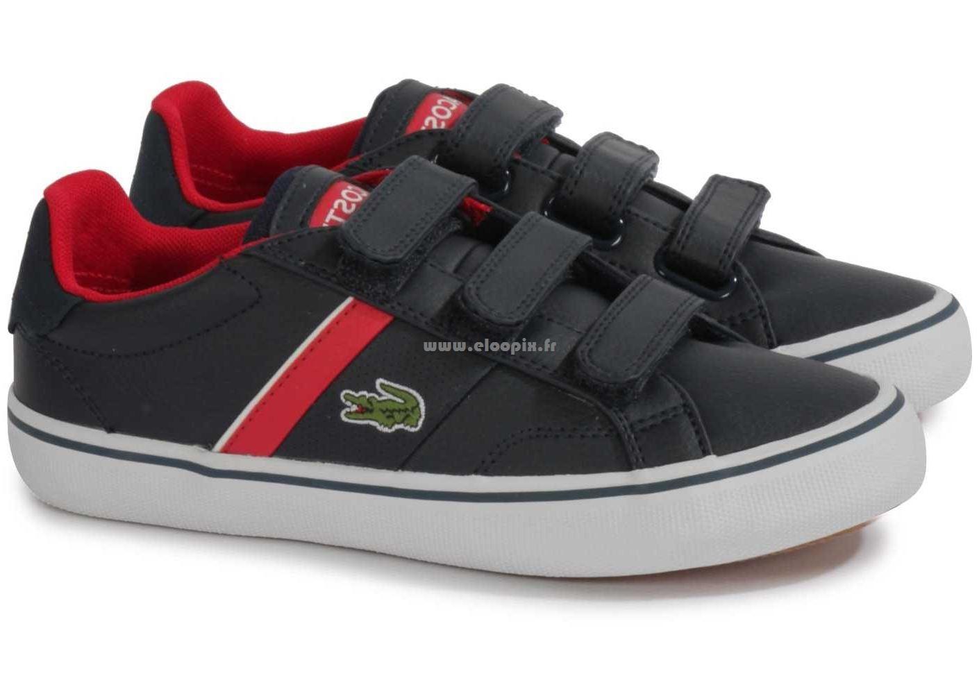 64c5c3f11f élégant Lacoste Lacoste Enfant Light Jr Rouge - , Chaussures BV44055 Lacoste  - Chaussure bébé/enfant straightset lace wht NC - pas cher Achat / Vente ...