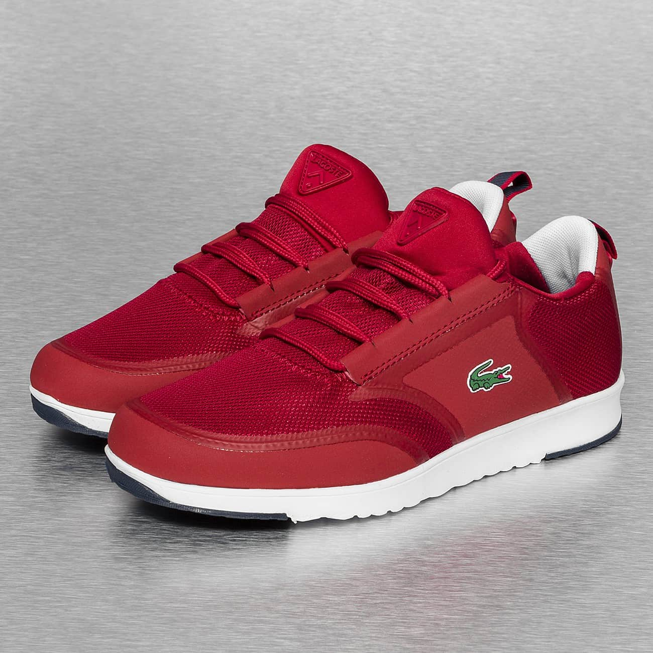 f5d7f34b7f chaussure lacoste rouge femme