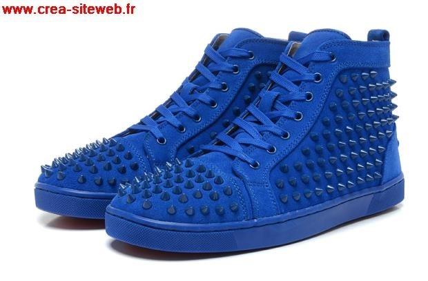 chaussure louboutin homme bleu