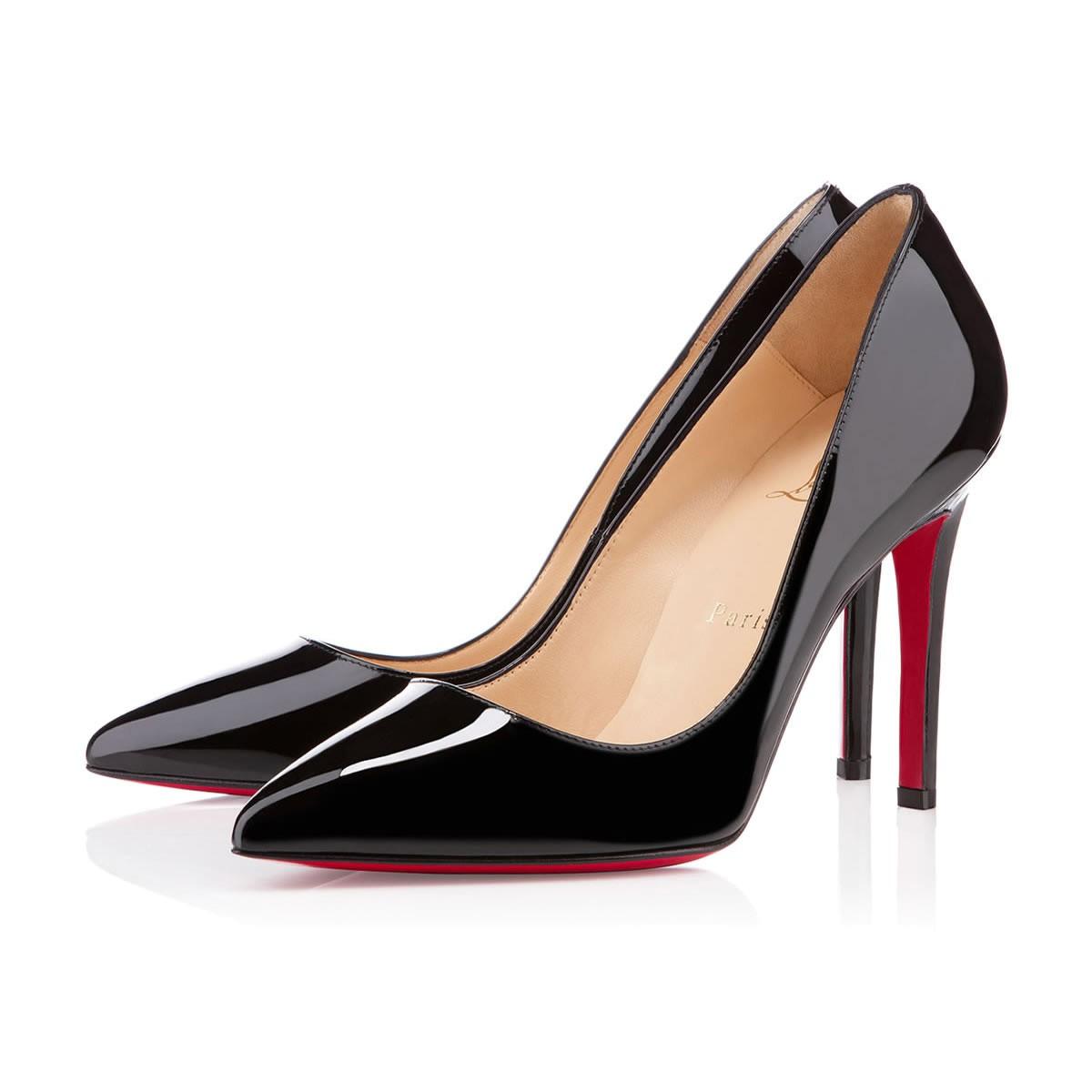 chaussure louboutin noir et rouge