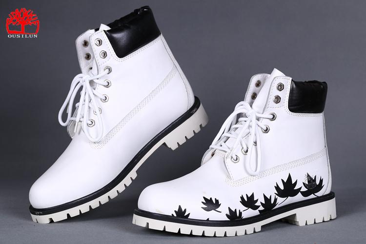 chaussure timberland noir et blanche