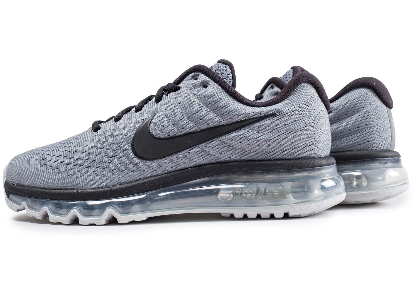 Homme Nike Air Max 2017 Gris/Bleu nike-air-max-2017-w-chaussures-running-femme- ... Chaussures Nike Air Max 2017 grise et noire vue dessous .