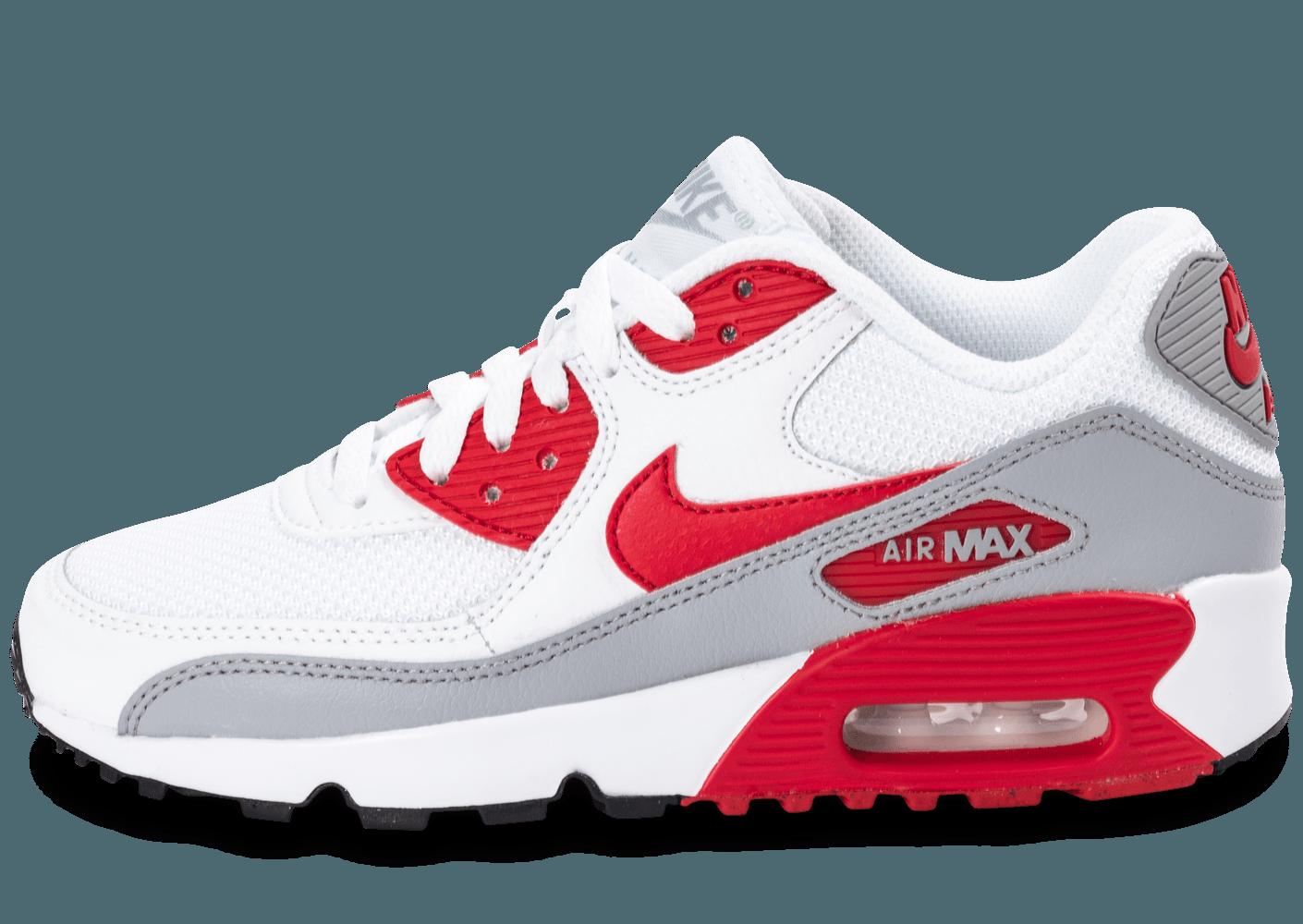 magasin d'usine e098f 271a9 nike air max 90 blanche et rouge