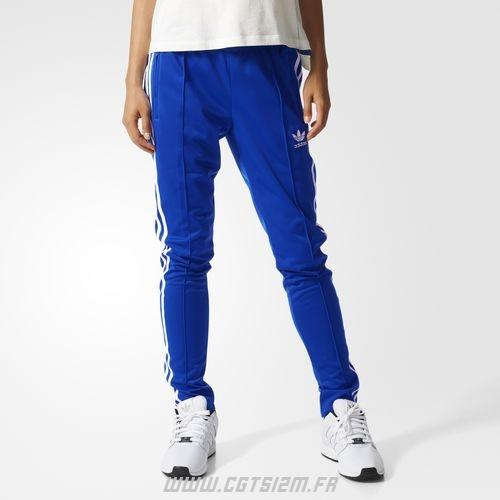 ec1a810f7db ... survetement adidas bleu femme