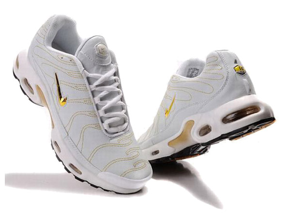 nike tn requin blanc et or